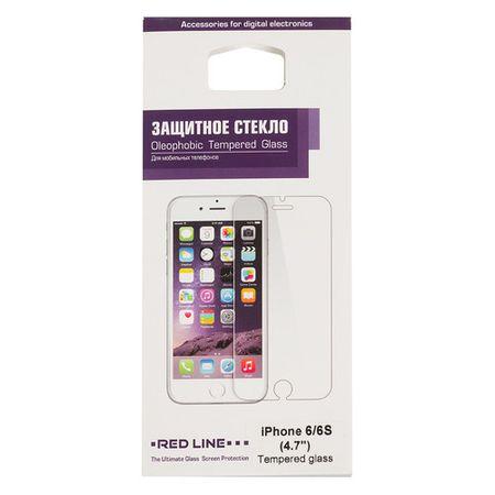 Защитное стекло для экрана REDLINE для Apple iPhone 6/6S, 1 шт [ут000005727]