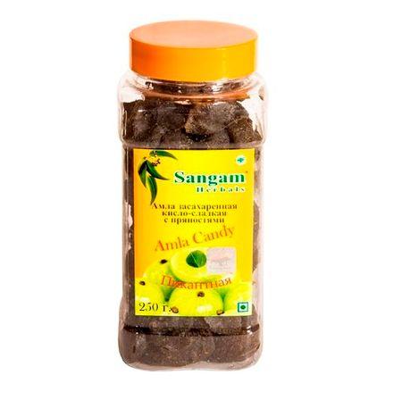 Амла засахаренная кисло-сладкая с пряностями Sangam herbals (250г)