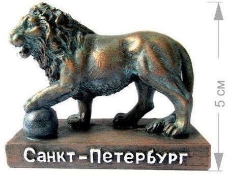 Фигурка полистоун СПБ. Скульптура Лев