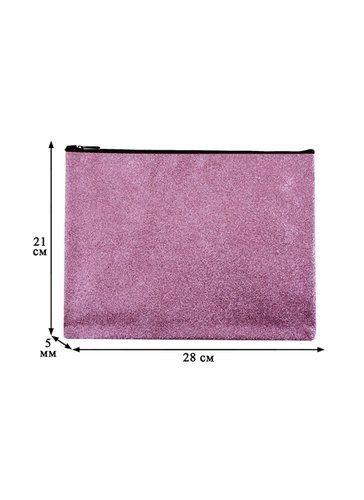 Папка для тетрадей В5 Glitter Pink 28*21, молния, подклад