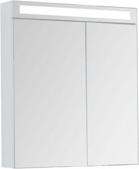 Зеркальный шкаф 70х80 см белый глянец Dreja.rus Max 77.9007W