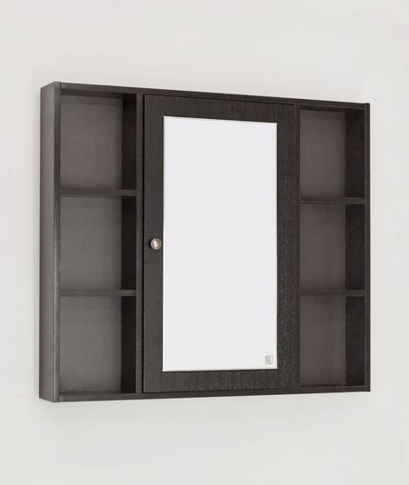 Зеркальный шкаф 90х80 см венге R Style Line Кантри LC-00000462