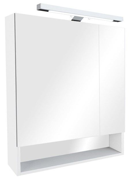 Зеркальный шкаф белый глянец 80х85 см Roca The Gap ZRU9302887