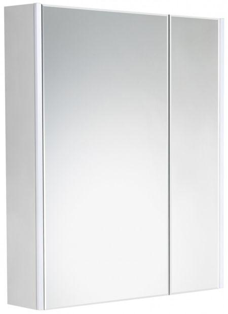 Зеркальный шкаф 67,8х81 см белый глянец Roca Up ZRU9303016