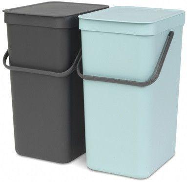 Набор ведер для мусора 16л (2шт) Brabantia SORT&GO 110023