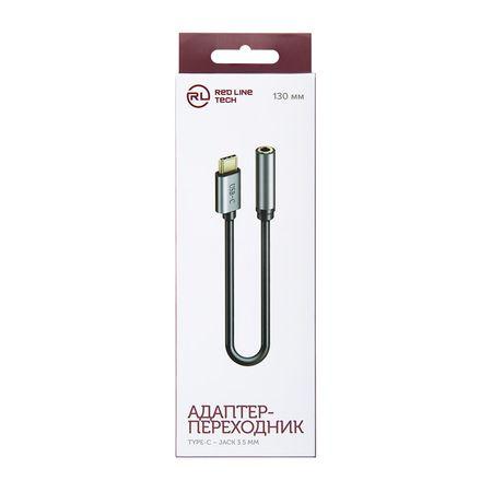 Red Line USB-C – Jack 3,5 мм (серый)
