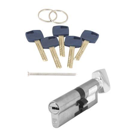 цилиндр ключевой APECS Premier XR 80мм 45+35 никель вертушка