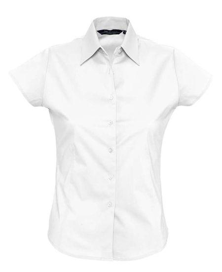 Рубашка женская с коротким рукавом EXCESS белая, размер M