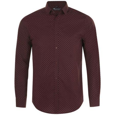 Рубашка мужская BECKER MEN, бордовая с белым, размер XXL