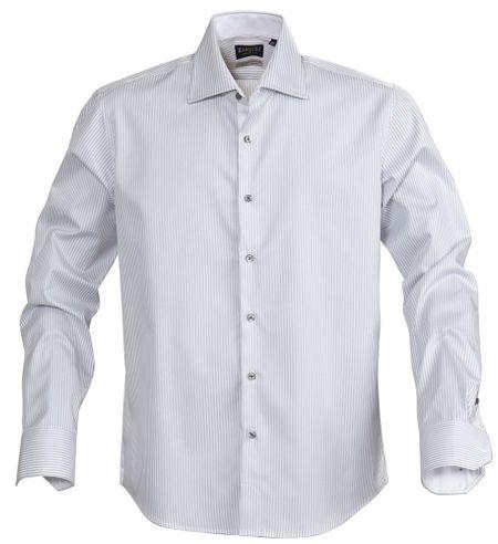 Рубашка мужская в полоску RENO, серая, размер S