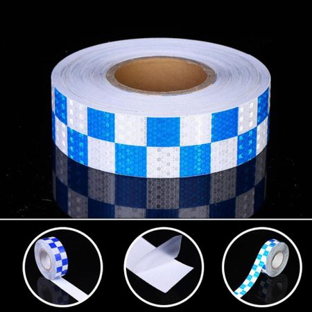 Micro Trader Roll Self-Adhesive Reflective Safety Warning Conspicuity Tape Silver 2.5cmx10m