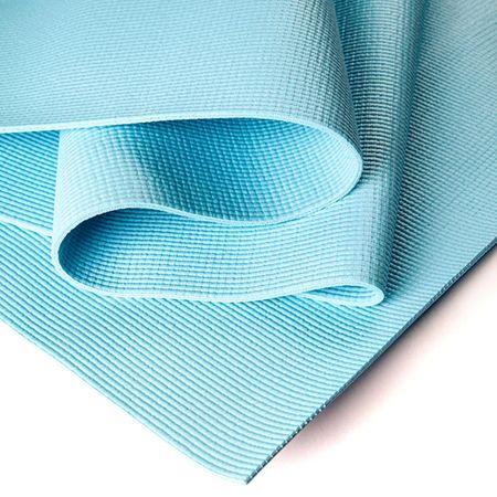 Коврик для йоги Асана Стандарт 4мм (1 кг, 185 см, 4 мм, голубой, 60см)