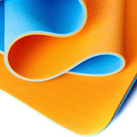 Коврик для йоги Шакти Earth (1.1 кг, 183 см, 6 мм, голубой, 60 см)