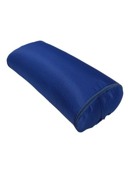 Болстер для йоги прямоугольный из гречихи 60 см (6.7 кг, 60 см, синий)