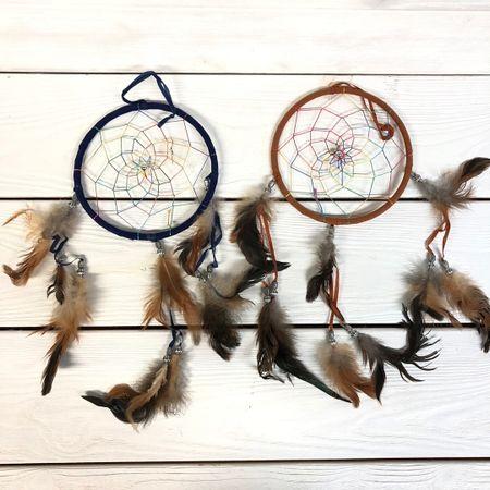 Ловец снов классика с цветными нитями 15 см (0,1 кг, 15 см)