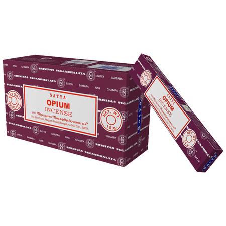 Благовония опиум Cатья серия incense / Opium Satya (0,05 кг, 15 г, фиолетовый)